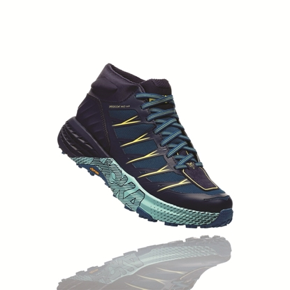 Bilde av HOKA ONE ONE Speedgoat Mid Wp (W) Seaport/Medieval Blue