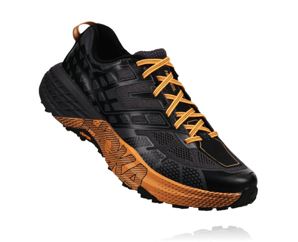 Bilde av HOKA ONE ONE  Speedgoat 2 (M) Black/Kumquat.