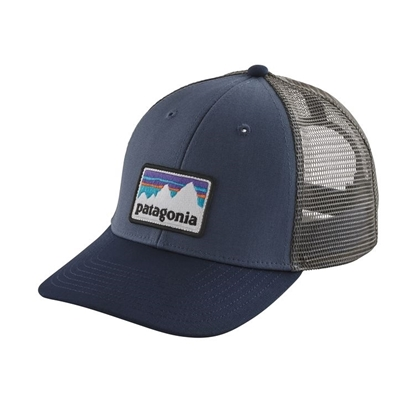 Bilde av PATAGONIA Shop Sticker Patch Lo Pro Trucker Hat Dolomite Blue.