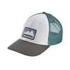 Bilde av PATAGONIA  Shop Sticker Patch LoPro Trucker Hat White/Forge Grey.