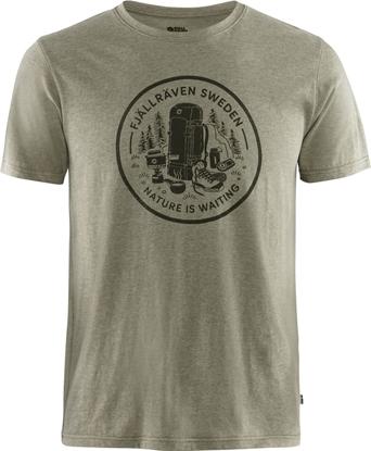Bilde av FJÄLLRÄVEN Fikapaus T-Shirt (M) Light Olive/melange