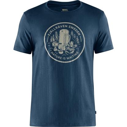 Bilde av FJÄLLRÄVEN Fikapaus T-Shirt (M) Navy