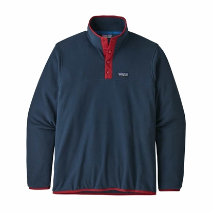 Bilde av PATAGONIA Mens Micro D Snap-T Pull Over New Navy w/Classic Red
