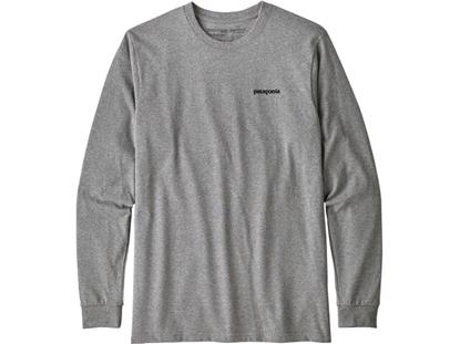Bilde av PATAGONIA Men's Long-Sleeved P-6 Logo Responsibili-Tee® Gravel Heather