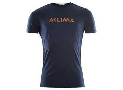 Bilde av ACLIMA  Lightwool T-Shirt Logo(M) Navy Blazer