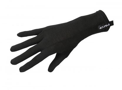 Bilde av ACLIMA Lightwool Liner Gloves Black