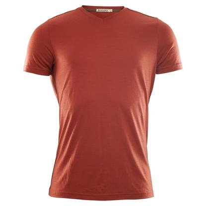 Bilde av ACLIMA Men's Lightwool T-Shirt Red Ochre