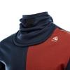 Bilde av ACLIMA Mens Warmwool Hood Sweater w/Zip Navy Blazer/Red Ochre/Nature