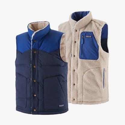 Bilde av PATAGONIA Men's Reversible Bivy Down Vest New Navy