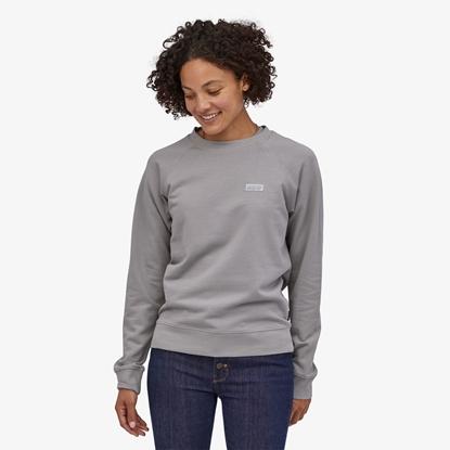Bilde av PATAGONIA Womens Pastel P-6 Label Organic Crew Sweatshirt Salt Grey