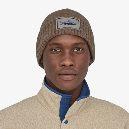 Bilde av PATAGONIA Brodeo Beanie Fitz Roy Trouth Patch Ash Tan