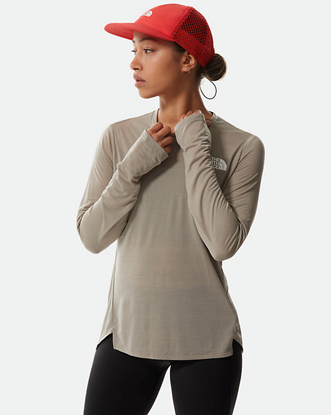 Bilde av THE NORTH FACE Womens Up With Sun Long SLeeve Shirt Mineral Grey