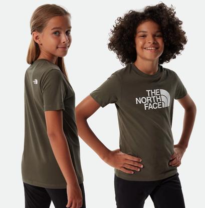 Bilde av THE NORTH FACE Youth Short Sleeve Easy Tee New Taupe Green/TNF White