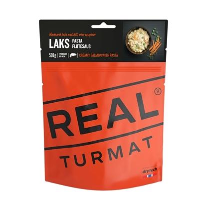 Bilde av REAL TURMAT  Laks m/Pasta  og Fløtesaus