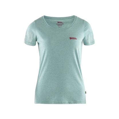 Bilde av FJÄLLRÄVEN Women's Logo T-Shirt Clay Blue/Melange
