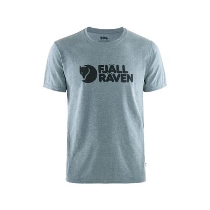 Bilde av FJÄLLRÄVEN Men's Logo T-Shirt Uncle Blue/Melange