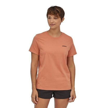 Bilde av PATAGONIA Womens P-6 Logo Organic Crew T-Shirt Toasted Peach