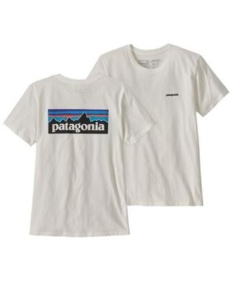 Bilde av PATAGONIA Women's P-6 Logo Organic Crew T-Shirt White