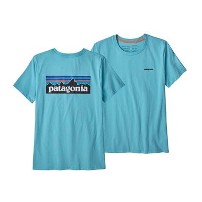 Bilde av PATAGONIA Womens P-6 Logo Organic Crew T-Shirt Iggy Blue