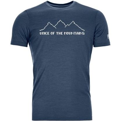 Bilde av ORTOVOX Men's Cool Pixel Voice T-Shirt Blue Lake