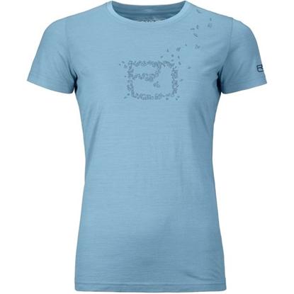 Bilde av ORTOVOX Women's Cool Leaves T-Shirt Light Blue Blend
