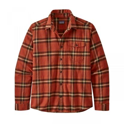 Bilde av PATAGONIA Men's LW Fjord Flannel Shirt Lawrence: Hot Ember