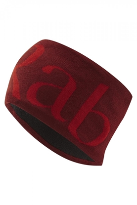 Bilde av RAB Knitted Logo Headband Oxblood Red