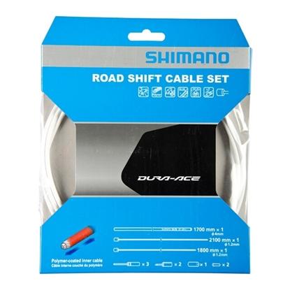 Bilde av SHIMANO Road Shift Cable Set Hvit