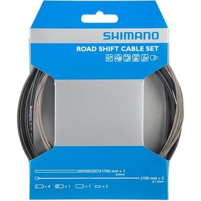 Bilde av SHIMANO Road Shift Cable Set Svart