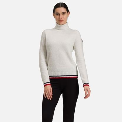Bilde av ROSSIGNOL Women's Tricolor Roll Neck Knit White