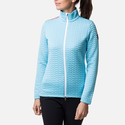 Bilde av ROSSIGNOL Women's Hiver Print Full-Zip Baby Blue
