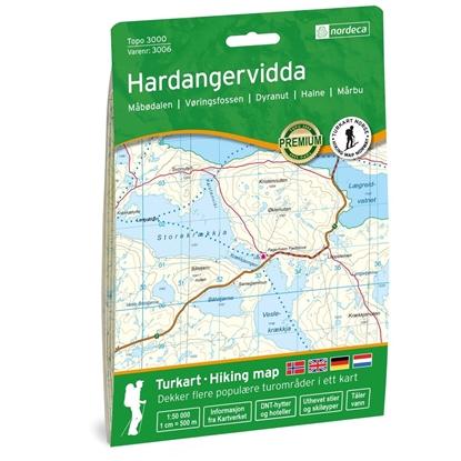 Bilde av NORDECA Hardangervidda Topo 3000 1:50 000